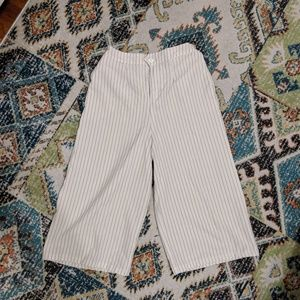 Pants - Striped Culottes